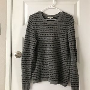 Madewell Heart Print Gray Sweater